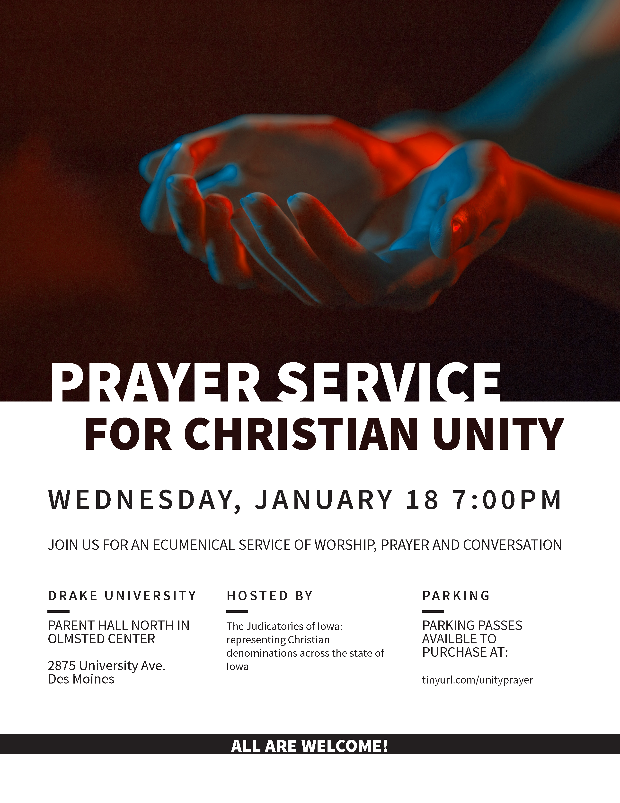 Christian unity prayer service at drake first christian church des unity invitation flyerposter altavistaventures Choice Image